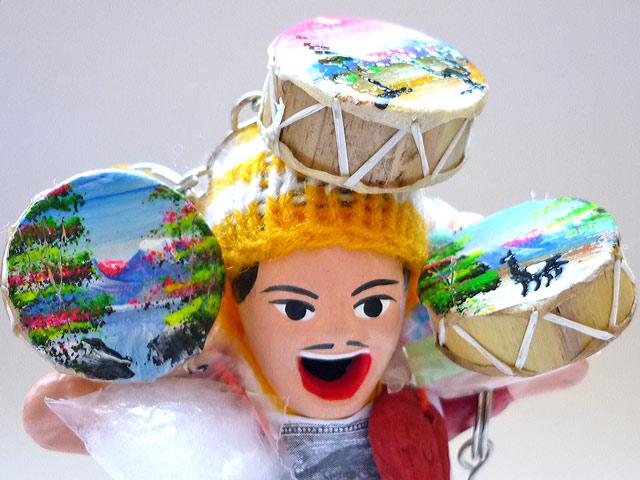 画像2: エケコ(エケッコー)人形用小物 鳴るよ♪ペルーのミニチュア楽器・ティンジャ【小物のみの価格】