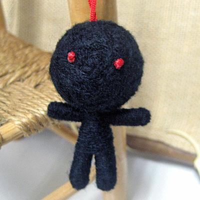 画像1: ハッピードール(ブドゥー人形) ブラック(災いを食べてくれる)