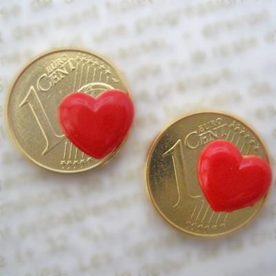 画像1: 愛情のラッキーコイン☆ハート 2個セット【FMヨコハマ LUCKY ME 紹介商品】