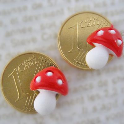画像1: 癒しのラッキーコイン☆きのこ 2個セット
