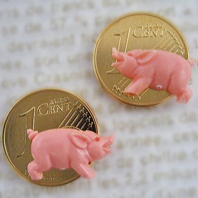 画像1: 富と繁栄のラッキーコイン☆ピッグ 2個セット