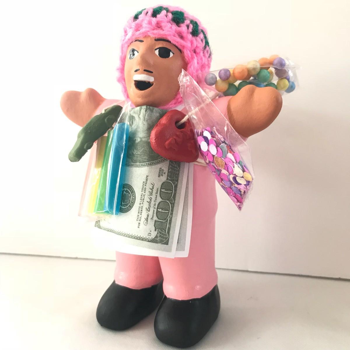画像2: 【限定】ペルー産!エケコ(エケッコー)人形  中Mサイズ(約15センチ)ピンク