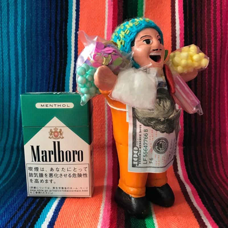 画像2: 【イエロー】『ペルー産!』エケコ(エケッコー)人形  MMサイズ(約14.8センチ)