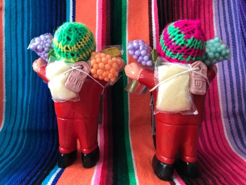 画像5: 【レッド】『ペルー産!』エケコ(エケッコー)人形  MMサイズ(約14.8センチ)
