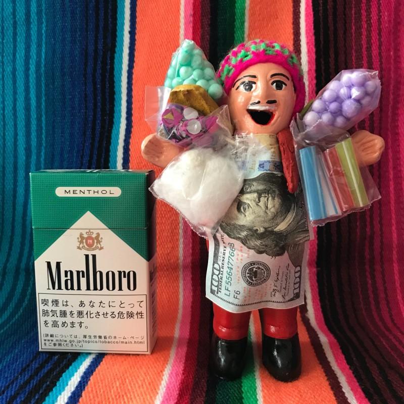 画像1: 【レッド】『ペルー産!』エケコ(エケッコー)人形  MMサイズ(約14.8センチ)